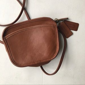 Coach Small Brown Leather Crossbody Bag